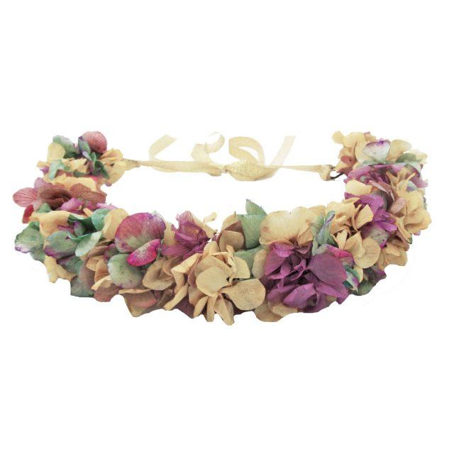 Corona de Flores con Lazo Tonos Pastel