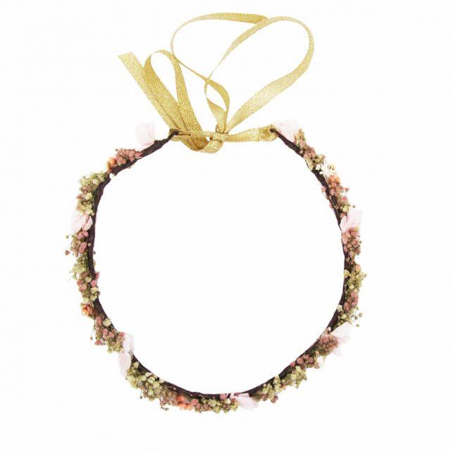Corona de Flores con Lazo Rosas y Crudos