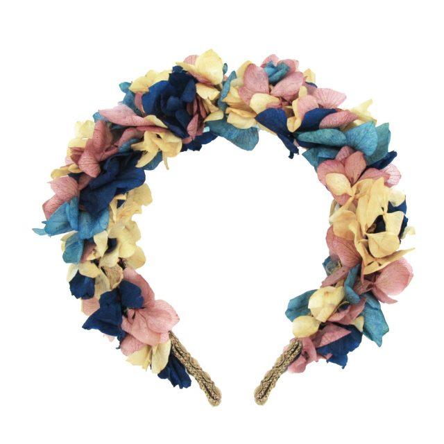 Diadema de Flores Tonos Pastel