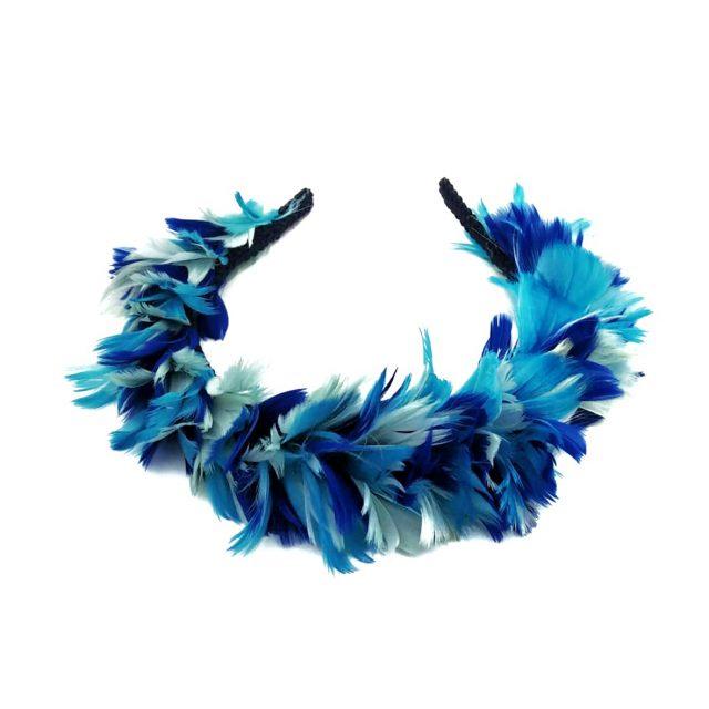Diadema de Plumas Azules