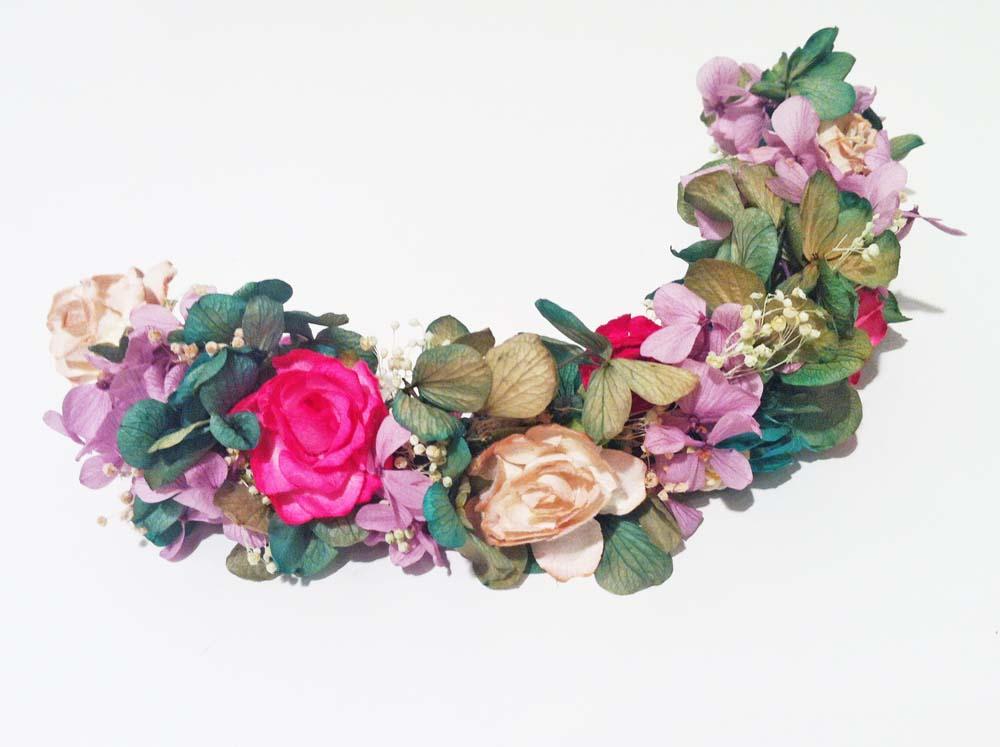 Media corona de flores - Coronas de flore ...