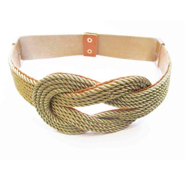 Cinturón con Nudo de Cordón Dorado