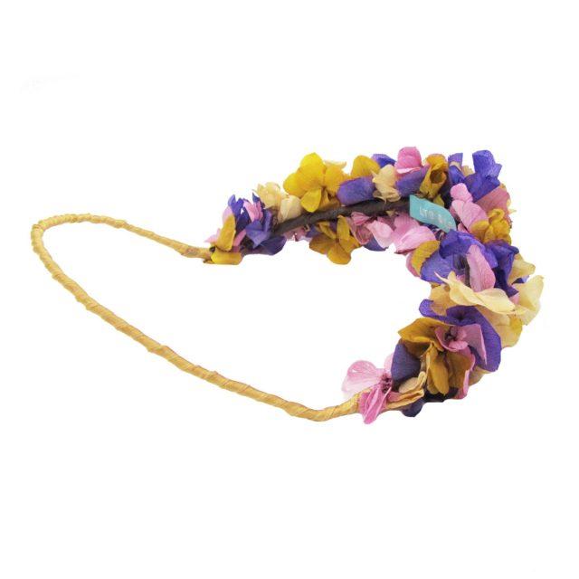 Corona de Flores Reversible Rosas y Ocre