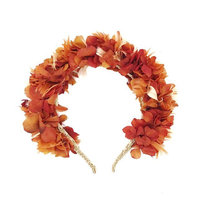 Diadema de Flores y Plumas Caldera