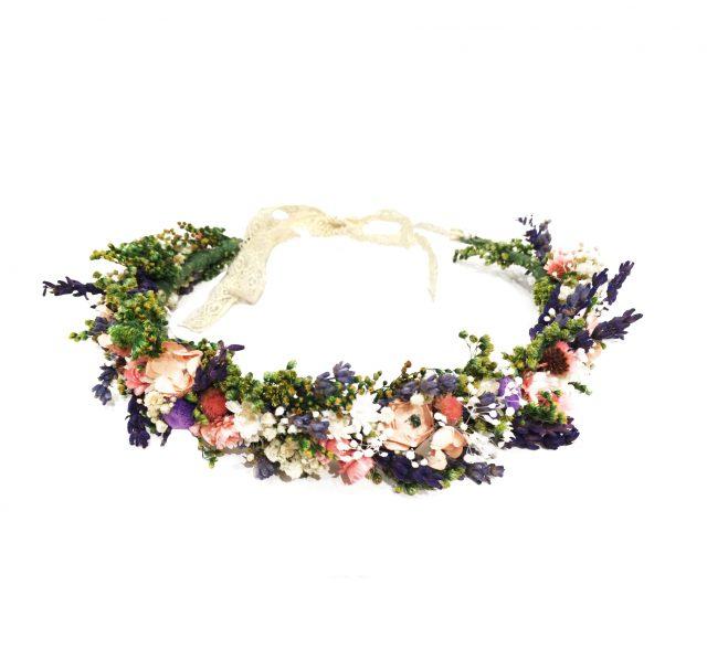 Corona de Flores Silvestres con Lazo