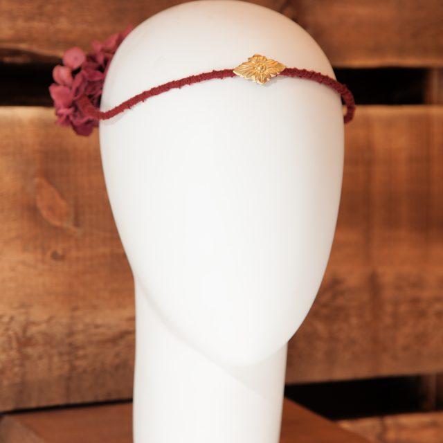 Corona de Flores Reversible Granate