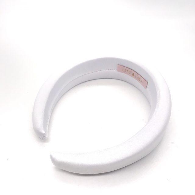 Diadema de Espuma Blanca