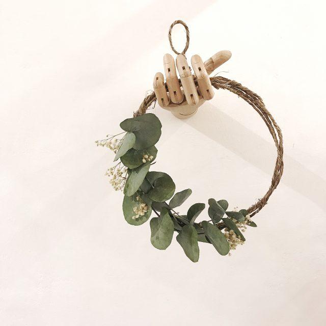 Aro de metal con Flores Preservadas