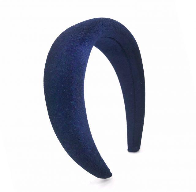Diadema de terciopelo azul noche