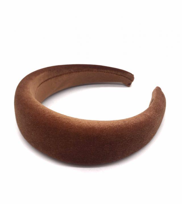 Diadema de terciopleo marrón