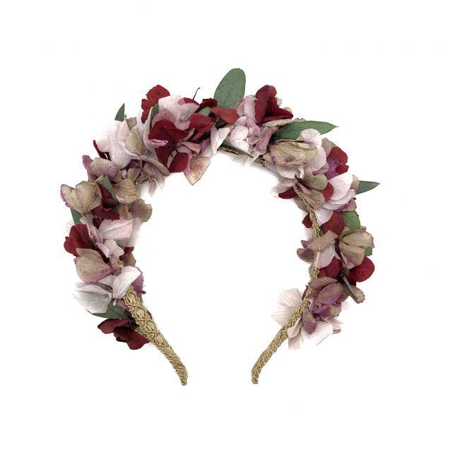 Diadema de Flores Rojos y Verde