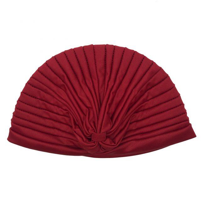 Turbante con Fruncido Rojo