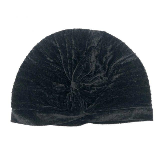 Turbante de Terciopelo Negro