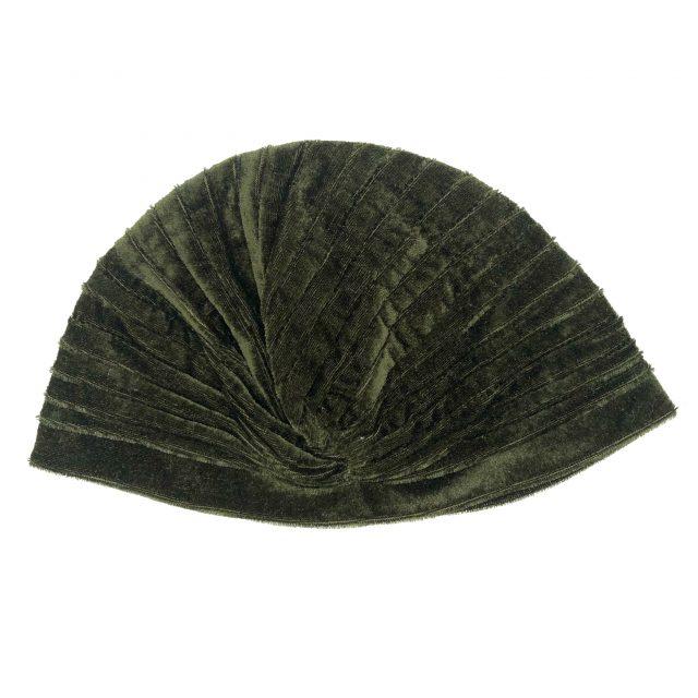 Turbante de Terciopelo Verde Oscuro