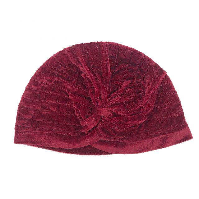 Turbante de Terciopelo Rojo