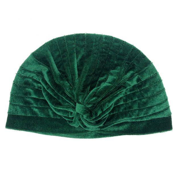 Turbante de Terciopelo Verde