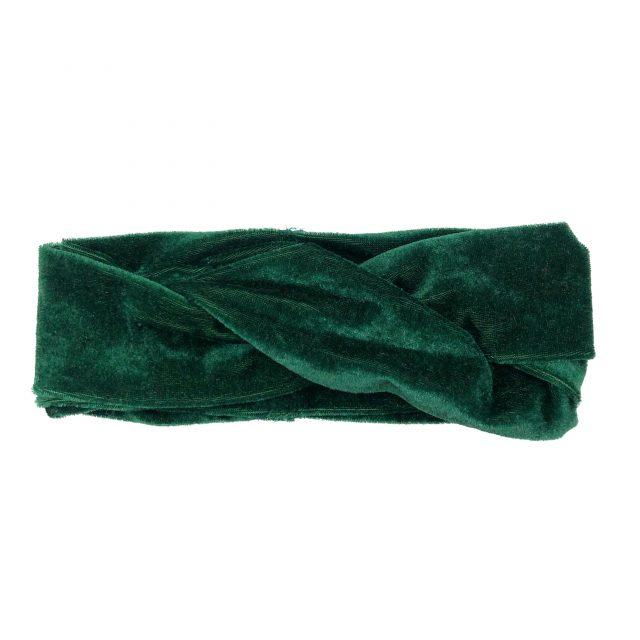 Turbante con Nudo de Terciopelo Verde