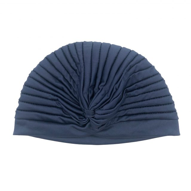 Turbante con Fruncido Azul Oscuro